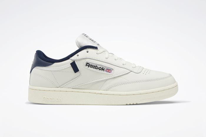 Reebok Club C 85 Chalk Classic White Collegiate Navy Lateral