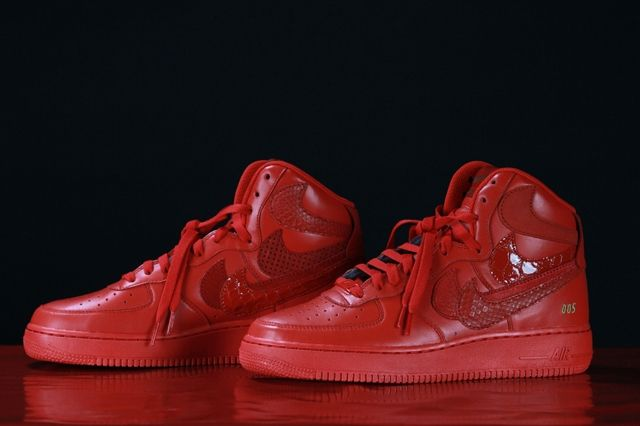 Nike Air Force 1 Misplaced Checks Red John Geiger 02