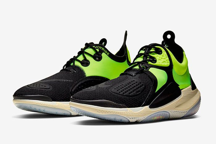 Nike Joyride Nsw Setter Black Neon Green At6395 002 Front Angle
