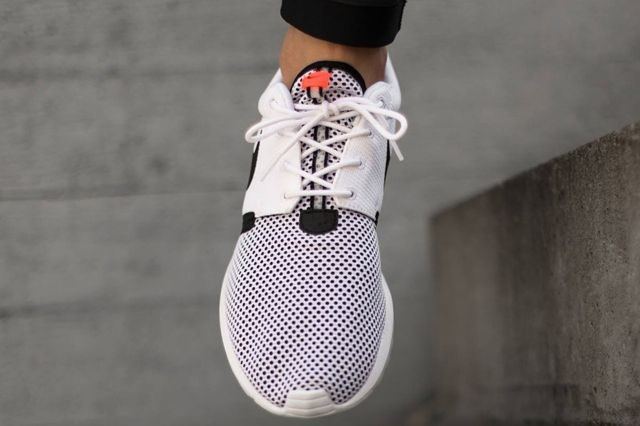 Nike Roshe Run Nm Breeze White Balck Hot Lava 04