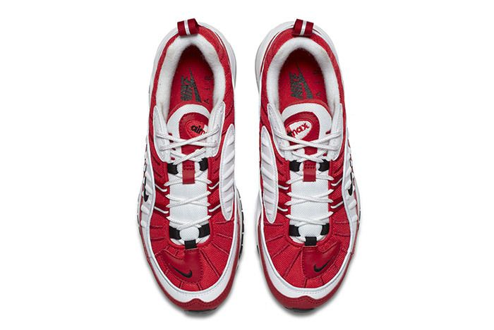 Nike Air Max 98 Womens Red White 1