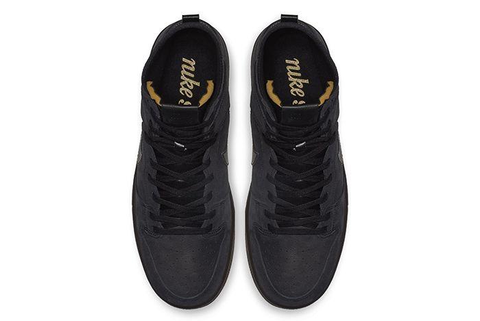Nike Sb Dunk High Decon Black Gold 2
