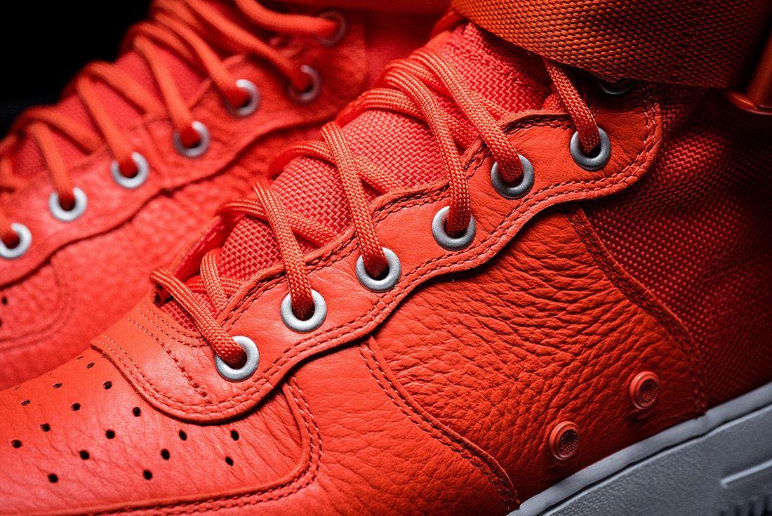 Nike Sf Air Force 1 Orange 1