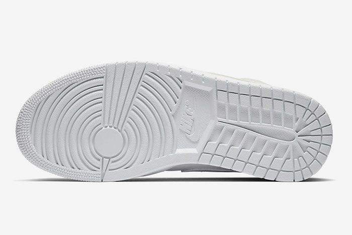 Air Jordan 1 Mid White Patent Bq6472 111 Release Date 1 Sole