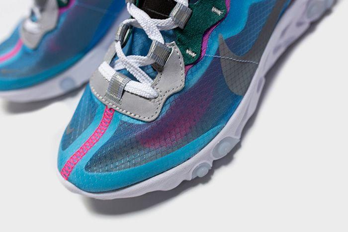 Nike React Element 87 Royal Tint Aq1090 400 Release Date Toe