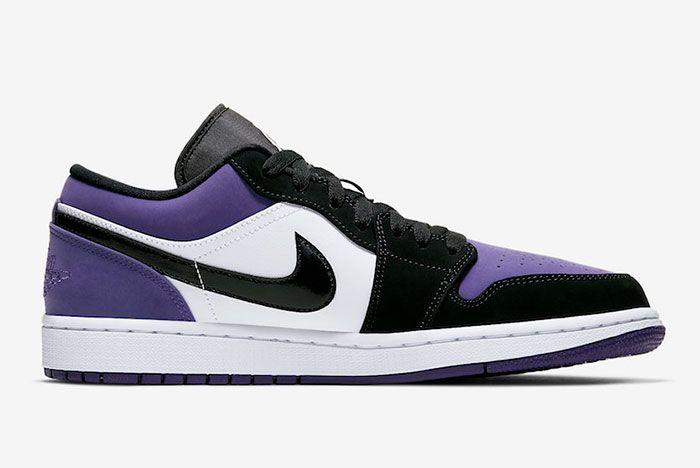 Air Jordan 1 Low Court Purple 553558 125 2019 Release Date 2 Side