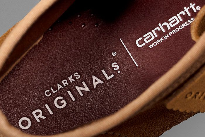 Carhartt Clarks Wallabee Brown Insole
