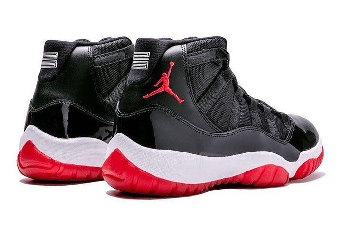 Air Jordan 11 Bred Heel