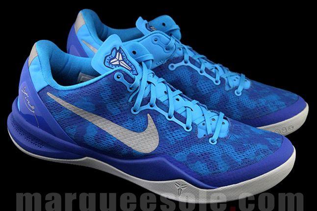 Nike Kobe 8 Aqua Camo Quater Front Pair 1