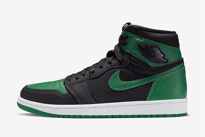 Air Jordan 1 High Pine Green Left
