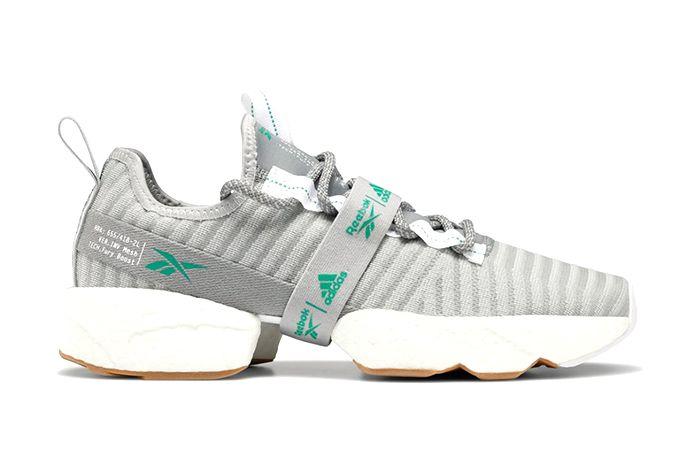 Adidas Reebok Sole Fury Boost True Grey Emerald Fw0166 Release Date Lateral