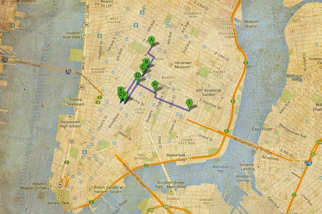 Nyc Sneaker Shopping Map Manhatan
