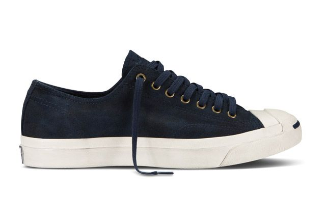 Converse Jack Purcell Washed Suede Sideview1