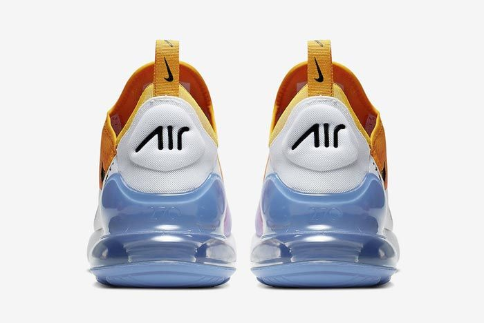 Nike Air Max 270 University Gold University Blue Heels