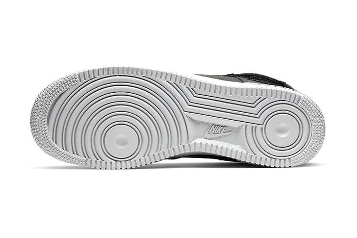 Nike Air Force 1 High Black Grey Orange Cq0449 001 Release Date Outsole