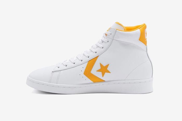Converse Pro Leather Hi Yellow Medial