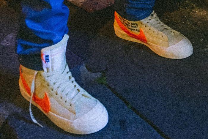 Off White Nike Blazer Cream Orange 1 Sneaker Freaker