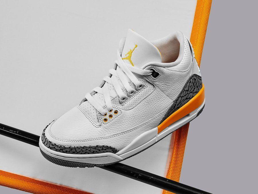 Air Jordan 3 Laser Orange Angled
