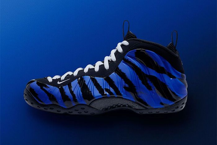 Nike Air Foamposite One Memphis Tigers Stripes Blue