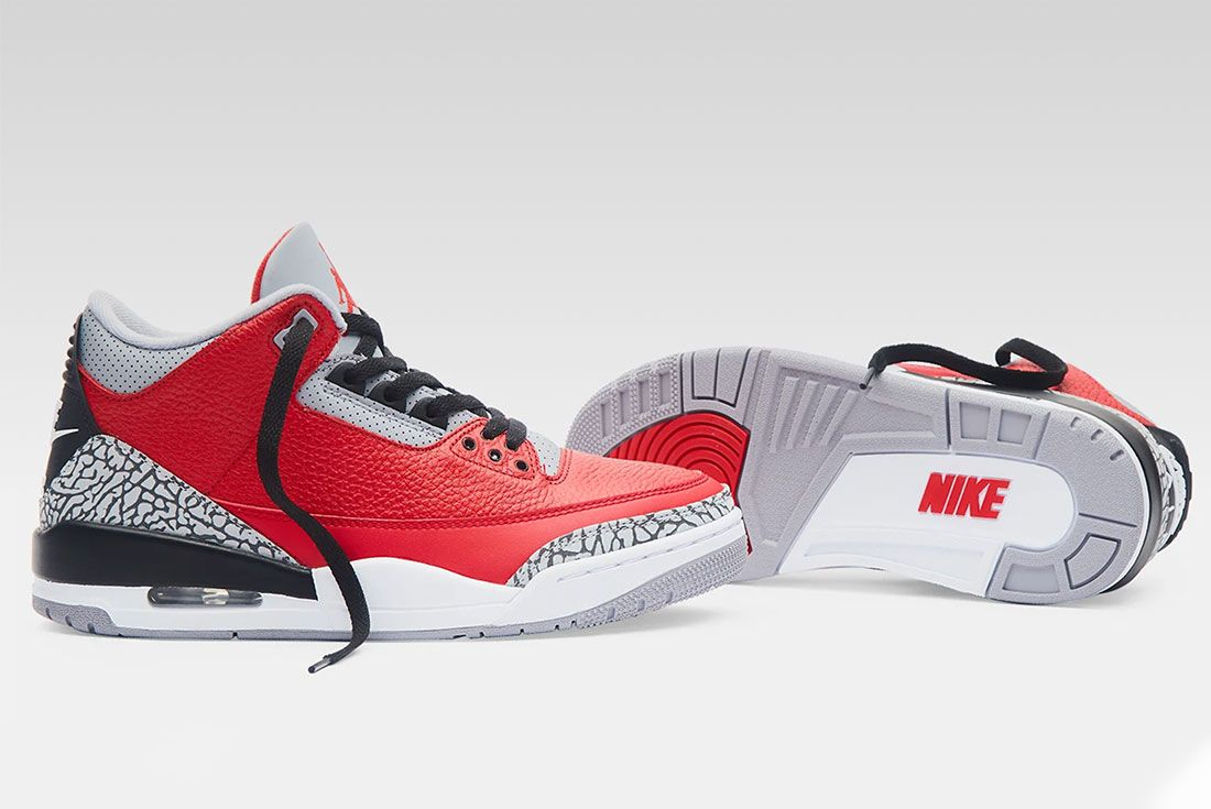 Air Jordan 3 Red Cement All Star End Launches Pair Shot