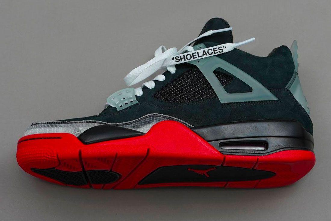 Off White Nike Air Jordan 4 Left