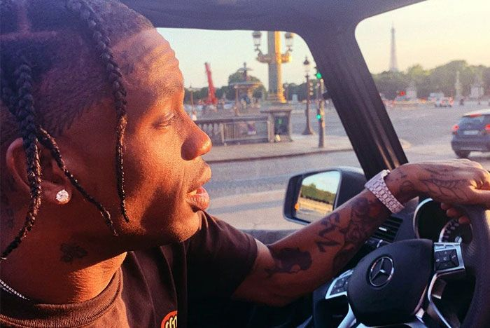 Travis Scott Driving Close