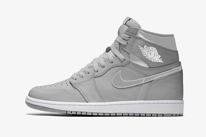 Air Jordan 1 Neutral Grey Metallic Silver White 555088 029 Release Date Mock