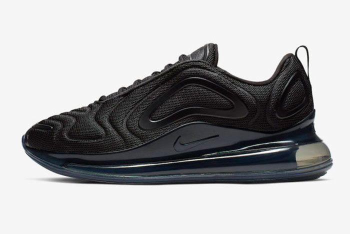 Nike Air Max 720 Triple Black Release Date Left
