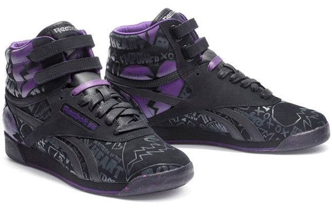 Reebok X Alicia Keys Black Hi Top Print 1