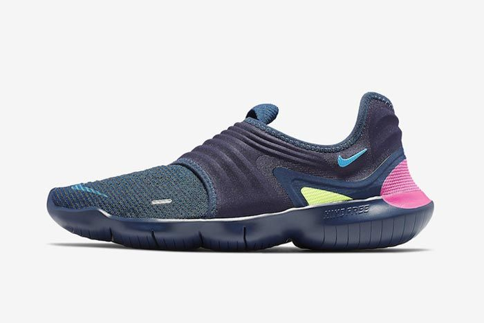 Nike Free Rn Flyknit 3 Midnight Navy Lateral