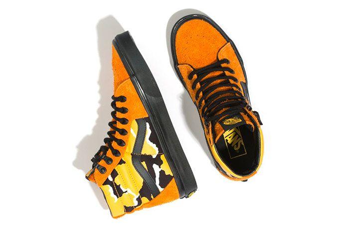 Vans Sk8 Hi Cordura Orange Top