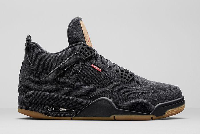 Levis Air Jordan 4 Black Denim 2