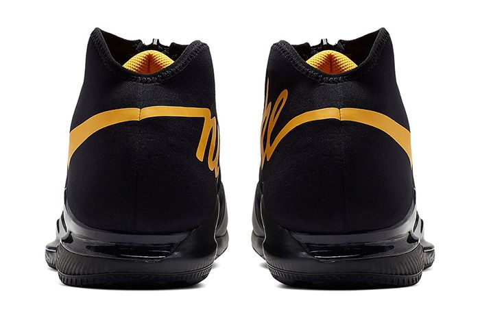 Nike Air Zoom Vapor X Glove Black Gold Aq0568 001 Release Date Heel