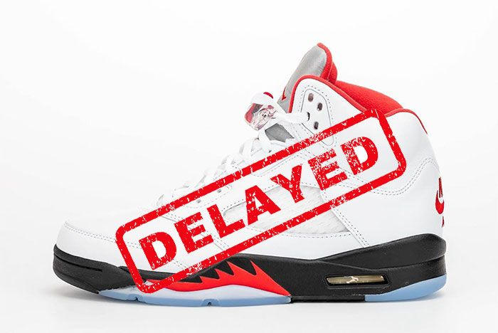 Air Jordan 5 Fire Red 2020 Delayed