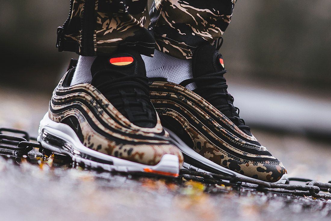 Country Camo Nike Air Max 97 Premium Qs Bamboo Black Dk Khaki Sequioa Aj2614 204 Sneaker Freaker 14