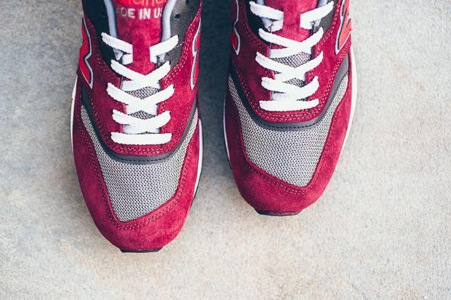 New Balance 997 Heritage Burgundy Grey Red 2