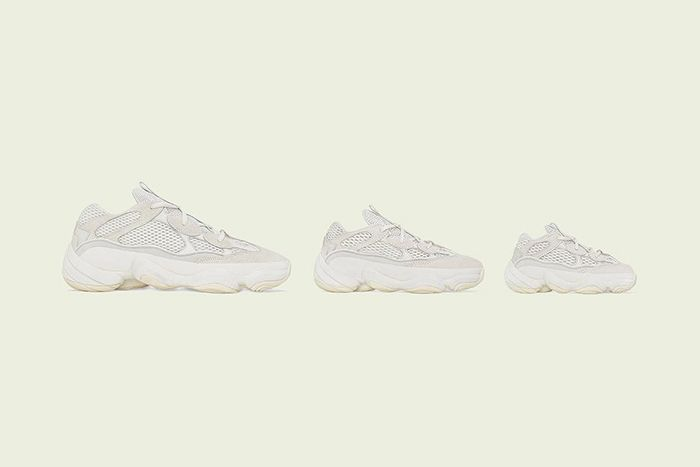 Adidas Yeezy 500 Bone White Full Family Sizes Release Date All
