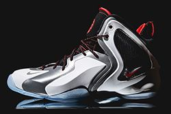 Nike Lil Penny Posite Reflective Silver Red Thumb