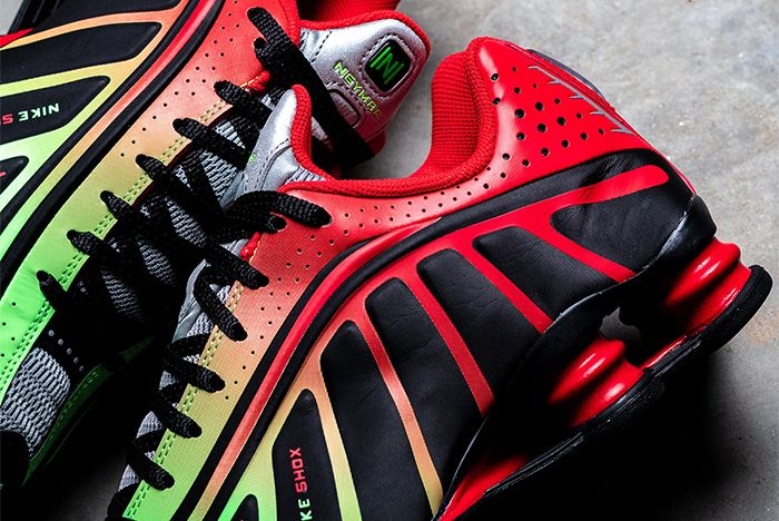 Nike Shox R4 Neymar Red Heel