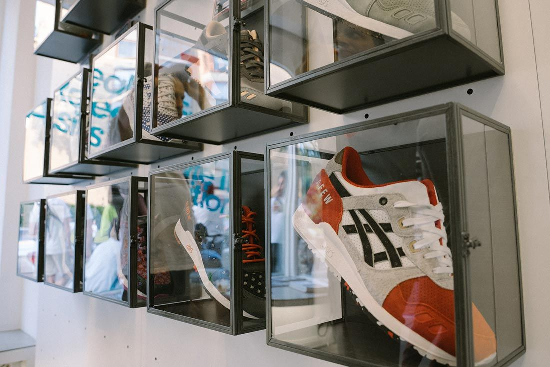 Allike Asics Sneaker Freaker Event Recap Asics Wall Koi