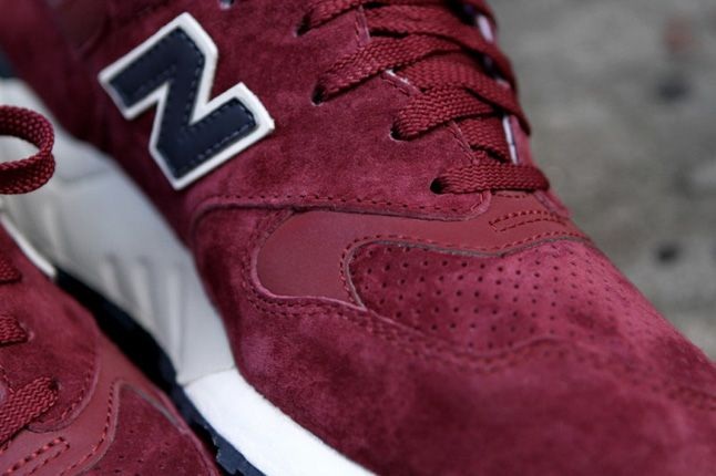 New Balance 999 Burgundy Pair Details 1