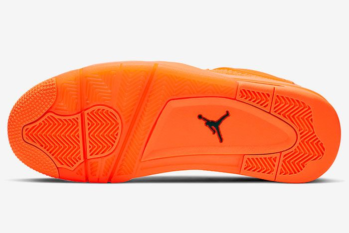 Air Jordan 4 Flyknit Total Orange Aq3559 800 Sole Shot