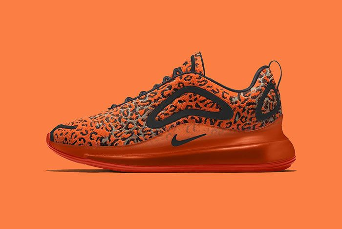 Maharishi Nike Air Max 720 By You Leopard Camo Bq7699 991 Orange