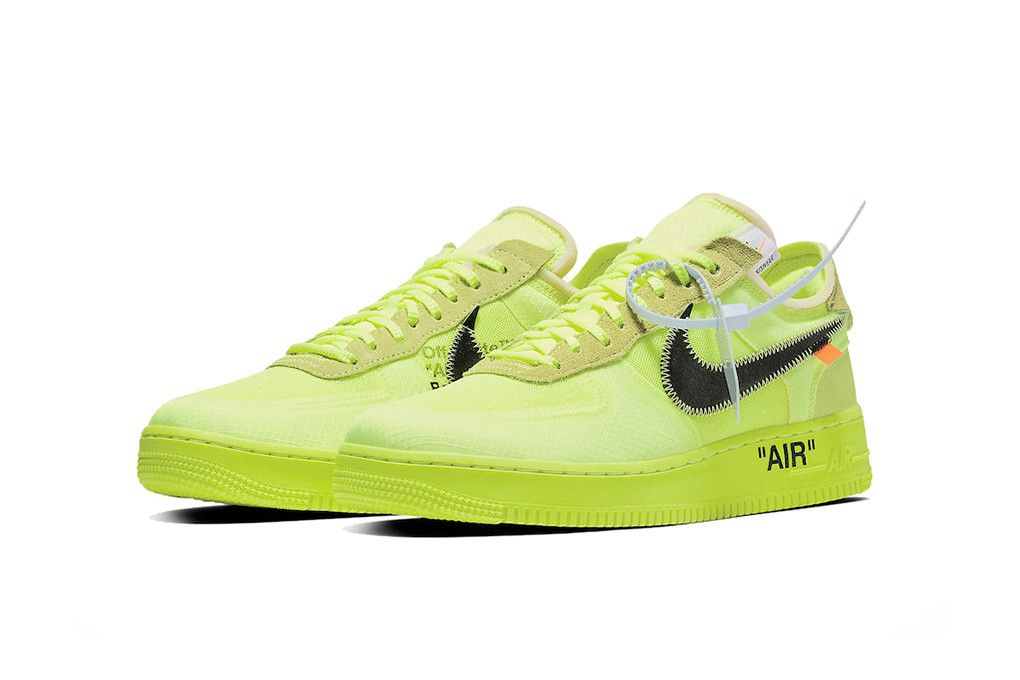 Off-White x Nike Air Force 1 'Volt'