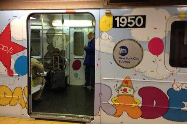 Kaws Nyc Mta Subway S Train Outside 1