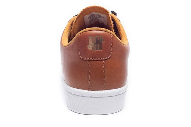 Undefeated Converse Leather Brown Lo Heel 1