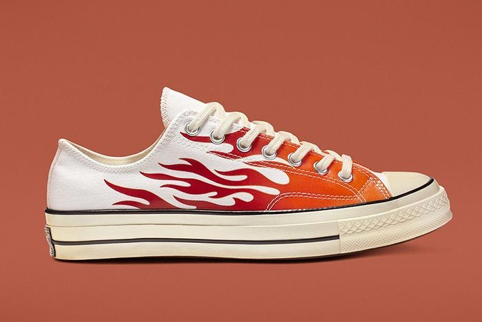 Converse Chuck 70 Flames White Low Medial Side Shot