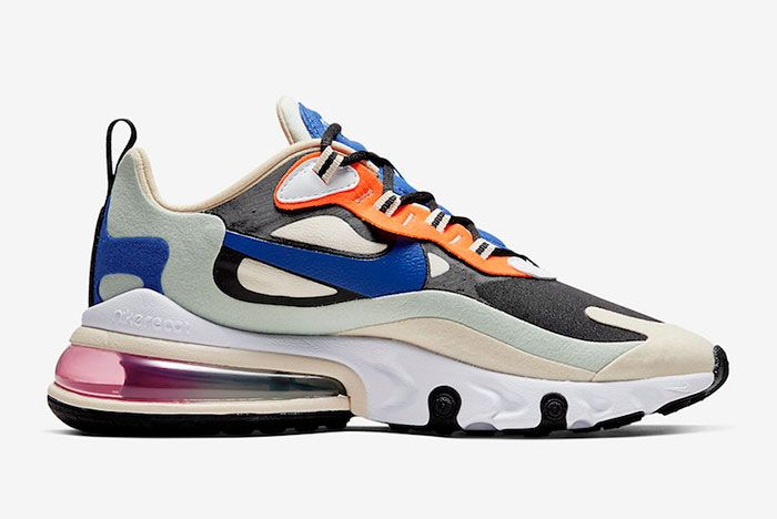 Nike Air Max 270 React Fossil Hyper Royal Pistachio Frost Ci3899 200 Medial