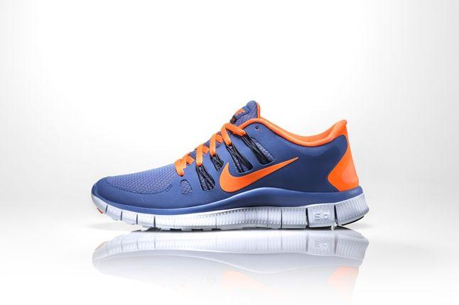 Nike Free 5 0 Blue Orange Profile 1