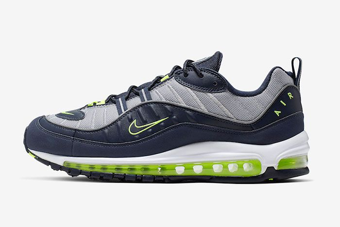 Nike Air Max 98 Obsidian Volt Cn0148 400 Release Dateside